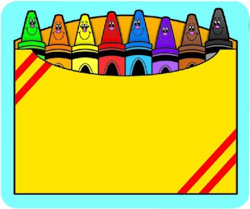 Carson Dellosa Crayon Box Name Tags (9412)