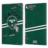 Head Case Designs sous Licence Officielle NFL Casque Look Affligé 100e New York Jets Logo Art Coque...