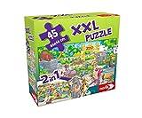 noris Puzzle XXL y Juego de Escalera – 2 en 1 – Alrededor del Tema Zoo – con 45 Piezas – a Partir de 3 años (Simba 606031913)