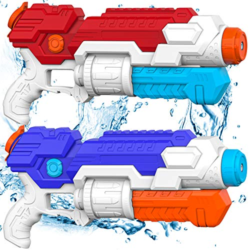 Shimfun Water Gun, 2 Pack Super Water Soaker Baster for Kids/Boys/Adults, High Capacity Big Squirt Gun Long Range Shooting, Summer Water Toys for Swimming Pool, Party Favor, Beach Party Fighting Toy