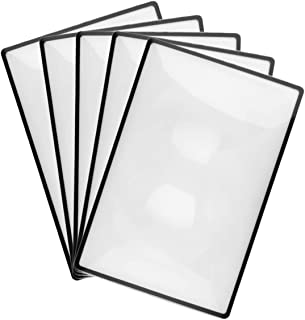 YASUOA 5 Pieces Page Magnifier Magnifying Sheet 3X Reading Magnifying Glass Loupe Lens Reading Aid for Reading Small Print...