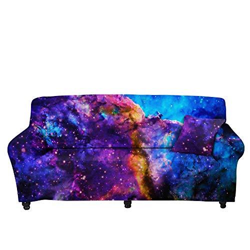 HXTSWGS Funda de sofá con Jacquard,Funda de sofá de Cielo Estrellado 3D, cojín de sofá de Tela para el hogar, Funda elástica, Funda de sofá de impresión Colorida-Color3_90-140cm
