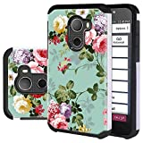 Jitterbug Smart 2 Case, Lacass Shock Absorbing Tough Rugged Protection Dual Layer Protector Hybrid Case Cover for Jitterbug Smart2 (Peony)