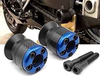 blue CNC Aluminum Carbon Fiber Swing Arm Spool Sliders Protector Fit For Yamaha YZF R6 1999-2004