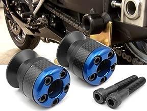 blue CNC Aluminum Carbon Fiber Swing Arm Spool Sliders Protector Fit For Yamaha YZF R1 1999-2001