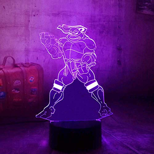 Ninja Turtles 3D Led 7 Couleurs Change Touch Remote Control Rgb Multicolor Kid Gift Desk Table Lava Lamp Bedroom