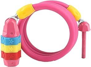 Steel Cable Lock/Helm Lock/Anti-Diefstal Vaste Kind Fietsvergrendeling Wachtwoord Lock/Elektrische Auto Lock-Roze