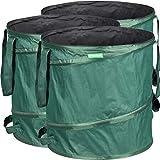 GardenMate 3x Sacs de jardin pop-up 85L en polyester oxford indéchirable 600D