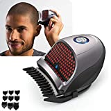 S SMAUTOP Shortcut Self-Haircut Kit Hair Clippers Bald Head Clipper Hair Clippers Cordless Rechargeable Hair Cutter Shaving Machine with 9 Combs