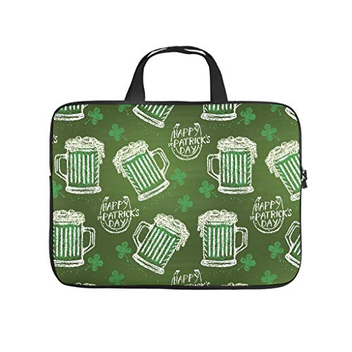 St Patrick's Day Laptop Sleeves Carrying - Carrying Case Handbag for Pro/Air 13 inch White 29x22x1.5cm