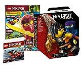 Collectix Lego - Set Ninjago Legacy Battle - Cole vs. Sordino 71733 + Quaderno Ninjago (poster XXL, Rätsel, Comics) con caricatore combinato in polibutilissimo 30536