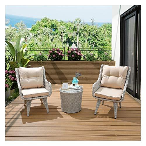 HLZY Conjunto de Muebles de Patio y Silla de Mimbre Rattan, Patio de Color de té Muebles de jardín...