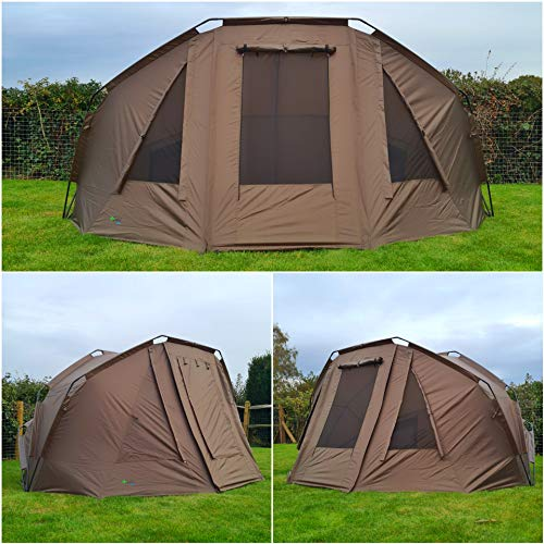 Quest Compact MK5 Carp Fishing 1-2 Man Bivvy, Day Shelter, Tent, Brolly, Overnight