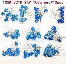 100PCS/lot 2KV high Voltage Ceramic Capacitor Assortment Kit 2KV 102K 221K 332K 471K 472K 561K 681K 821K Ceramic Capacitors Set []