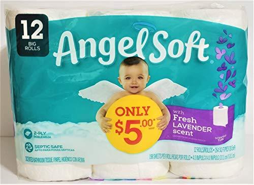 Angel Soft Fresh Lavender Scent 12 Big Rolls (1 Pack)