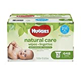 Huggies Natural Care Baby Wipes, Sensitive, Unscented, 3 Refill Packs,...
