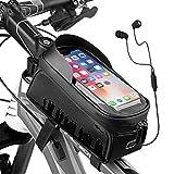 """Cool Change Bike Phone Bag, Waterproof Bike Frame Bag, Bicycle Top Tube Bike Bag Bike Pouch Bike Phone Mount Holder Mountain Bike Accessories for iPhone 12/11 / Max/X/XS/XR / 8/7 Under 6.5"""""""