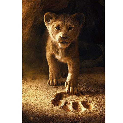 Cartoon Der König der Löwen Voll Runde Bohrer Diamant Stickerei 3D Malerei Kreuzstich Mode Diamant Mosaik Bilder