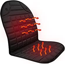 BAODAN Almofada de aquecimento para assento de carro, DC 12 V, almofada quente e respirável para aquecimento de carro com ...