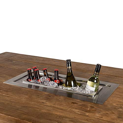 M A N I A Flaschenkühler als Einbau - Weinkühler, Sektkühler, Bierkühler, Getränkekühler rechteckig 69 x 32 x 23,3 cm