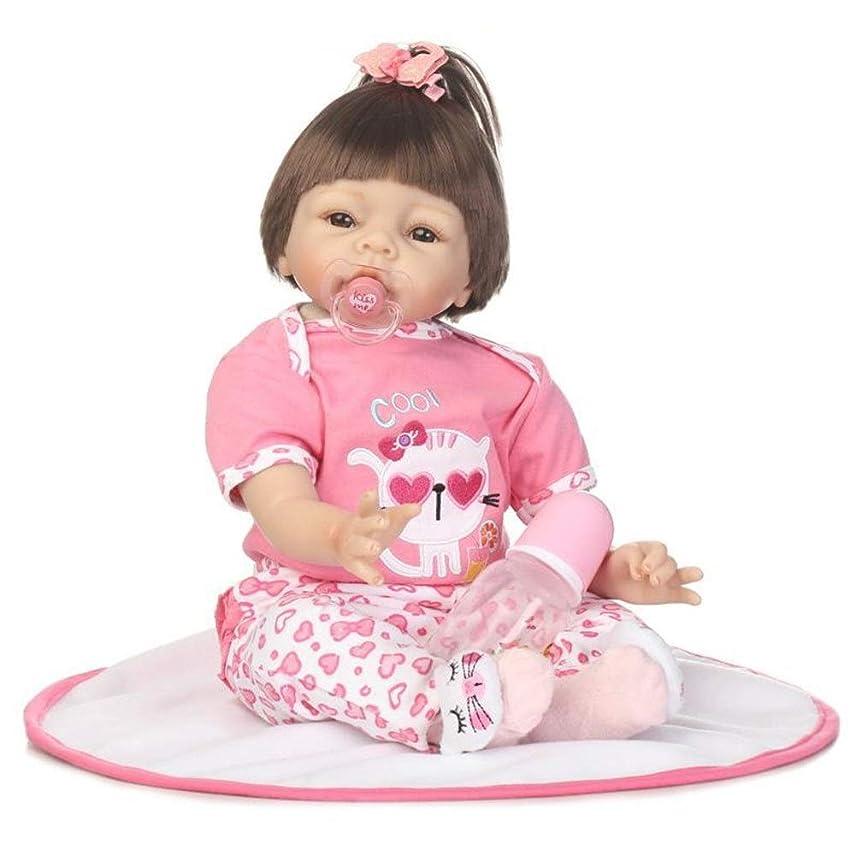 ボウリングシード学校模擬赤ちゃん人形はお 年齢層に適しリボーンベビードール22インチリアルな女の赤ちゃんの人形マグネットおしゃぶりギフト3+ (Color : Photo Color, Size : 52cm)