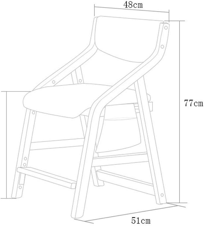 QNN Accueil Chaise D'Étude Pour Enfants Chaise de Salle À Manger Chaise D'École Primaire Chaise Chaise D'Ascenseur En Bois Massif Chaise de Bureau Chaise de Bureau,C C
