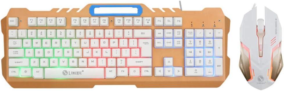 YUYAN Juego Combinado de Teclado y Mouse para Juegos con ...