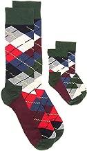 Happy Socks Daddy & Me Crew Sock Set 1013 1224 M ,Multicolored Argyle