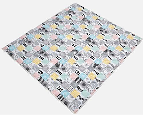 Ideenreich 2533 - Coperta per gattonare, 130 x 150 cm, ideale come coperta, coperta per gattonare e inserto per box, multicolore