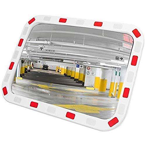 FXLYMR Espejo Convexo, Supermercado Anti-Robo de Seguridad Retrovisor Al Aire Libre, Supermercado, Lente de Gran Angular de Giro de Carretera, Espejo Panorámico, Espejo de Seguridad, Lente de Gran An