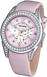 TIME FORCE Reloj Analógico para Mujer de Cuarzo con Correa en Cuero TF3375L06
