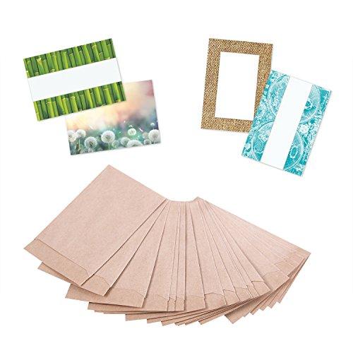 100 BRAUN natur MINI-Tüte Kraftpapier Papiertüte 6,3 x 9,3 cm + 1,5 cm Lasche. Verpackung Gastgeschenk Mitgebsel Globuli Samen Produkt Tablette give-away Geschenke