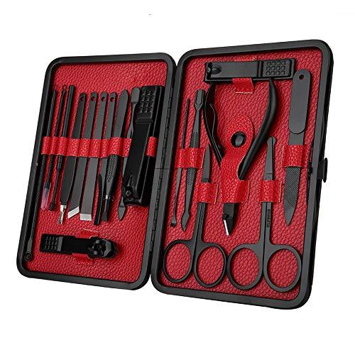 18 Pcs Nail Clip Set, Kit Coupe-Ongles Pour La Maison, Outil De Pédicure Avec Manucure Visage Fichier