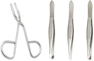 Luxxii (2 Pack) Scissors Shaped Eyebrow Tweezers Clip - Flat Tip Tweezers Hair Plucker for Hair and Eyebrows Personal Care...