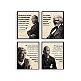 African American Art Black History Posters for Classroom - by Haus and Hues | Black History Month Decorations & African American Posters for Classroom | African American Wall Art UNFRAMED (8' x 10')