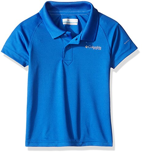 Columbia Youth Boys PFG Terminal Tackle Polo Shirt, Moisture Wicking, UV Sun Protection, Small, Vivid Blue