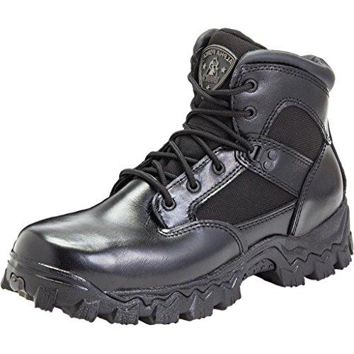 Rocky Men's Alpha Force 6 Inch Steel Toe Work Boot,Black,10 M US