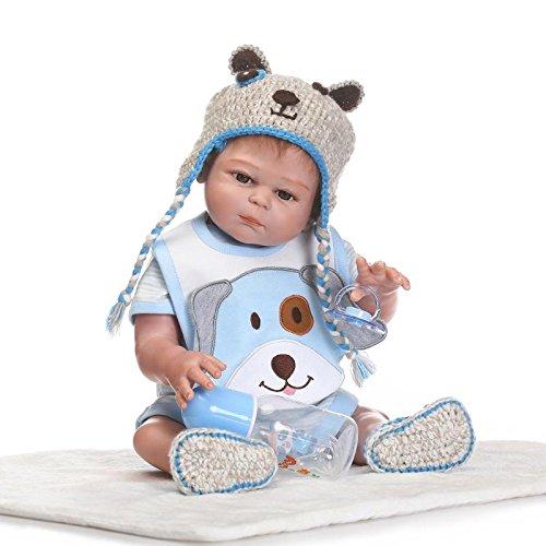 Pinky Reborn Bambole Reborn Baby Doll Morbido Silicone Vinile Corpo Realistico Bebe Reborn Dolls Bathable Toddler Toys Regali di Compleanno (Boy)