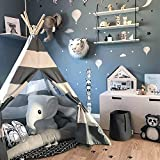 Wonder Space Kids Teepee Play Tent Children Baby Toddlers Nursery Tent Playhouse for Indoor Outdoor, Raw...