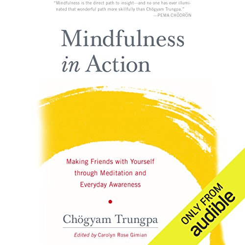 Mindfulness in Action     Making Friends with Yourself through Meditation and Everyday Awareness              By:                                                                                                                                 Chögyam Trungpa                               Narrated by:                                                                                                                                 Roger Clark                      Length: 5 hrs and 32 mins     107 ratings     Overall 4.8