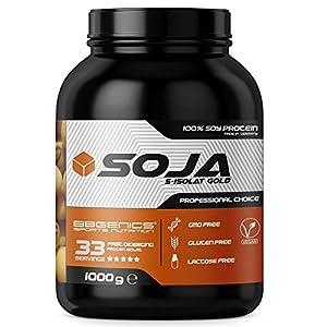 Soja Isolate GOLD - (100% vegetariana de proteína de soja natural, aislado lactosa, proteína natural), 1000g vainilla