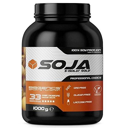 Soja Isolate GOLD - (100% végétalien protéines de soja naturel, lactose, protéine naturelle isolée), 1000g vanille