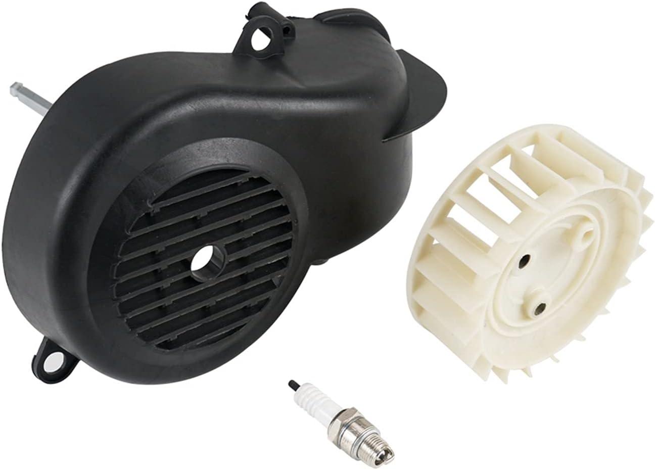 XINLIN Ruderude Canal DE TELEVISIÓN BRITÁNICO Motor de Aire Complete el Ventilador de refrigeración Ajuste para Polaris Depredator Sportsman Scrambler 90 2-Stroke para 2T Yamaha JOG90 90cc Motores