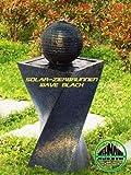 Solarbrunnen Wave Black Solarspringbrunnen Garten Brunnen Komplettset für Garten und Terrasse Tag und Nacht mit Memoryfunktion !!!