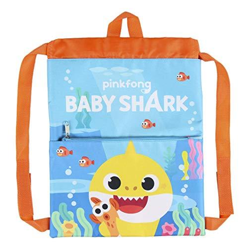 Cerdá Life'S Little Moments, Saquito Guardería de Baby Shark-Licencia Oficial Nickelodeon para Niños, Multicolor, Infantil