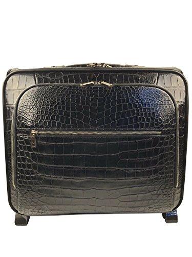 Fantastic Deal! BLACK GENUINE ALLIGATOR LUXURY LUGGAGE BAG CARRY ON AUSTIN DANIEL