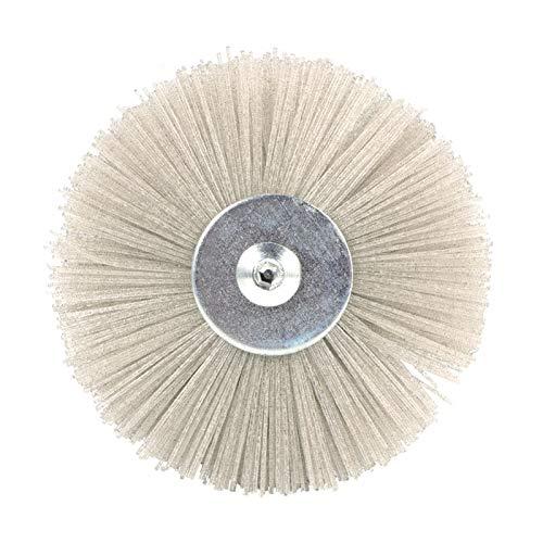 Rueda abrasiva de alúmina cepillo de alambre Cabeza Buff Deburring Pulido cepillo for trabajar la madera Mecanizado XIAO DIAO (Grit : 80)