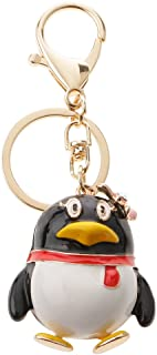 Prettyia Fashion Creative QQ Penguin Car Keychain Keyring Key Ring Key Chain Pendant