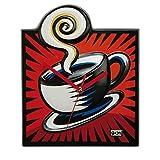 Goebel Coffee Break Wanduhr, Hartporzellan, bunt, 24 x 3 x 29.5 cm