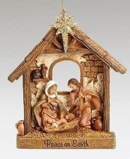 Roman Fontanini Peace on Earth Holy Family Stable Christmas Ornament
